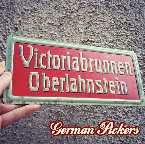 Victoriabrunnen Oberlahnstein - Blechschild  Lahnstein um 1910  Hersteller Ges. Plakat Industrie m.b.H. Berlin