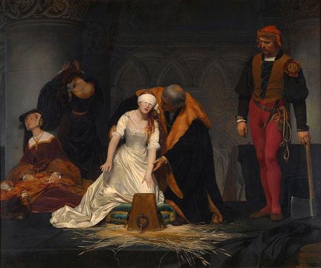P. Delaroche, L'esecuzione di Lady Jane Grey (1834)