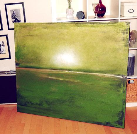 abstrakte Landschaften grün