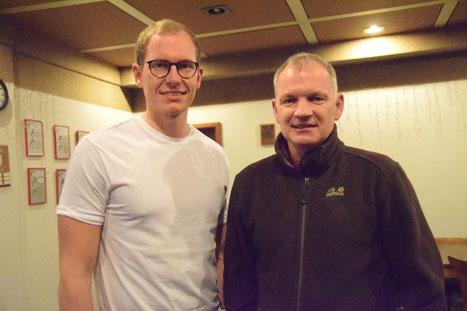 Diskutierten ohne Emotionen mit Trainern: Christopher Horn und Oliver Günther
