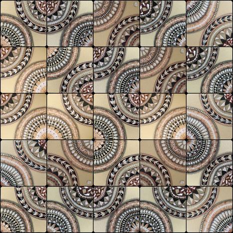 Muster: renaissanz, onamato, a-frame, antique, doodah, printemps, jonqal