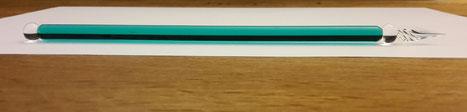 schlichte, elegante Glasschreibfeder, vom Glasbläser gefertigt