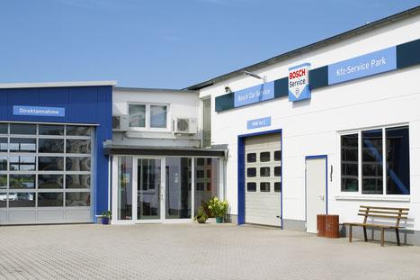 Einfangsbereich der Kfz-Service Park GmbH