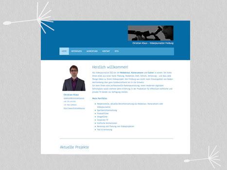 Bild: Webseiten-Screenshot von Christian Klaus - Videojournalist aus Freiburg
