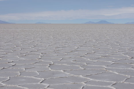 Auf dem Salzsee von Uyuni.