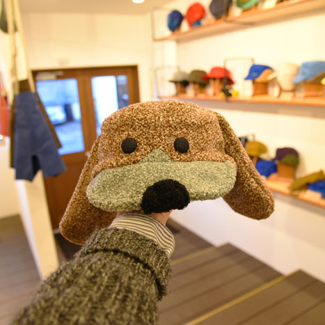 犬の形の帽子