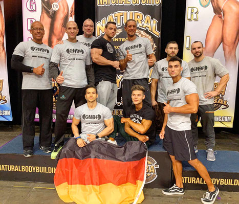 Team Germany bei der INBA/PNBA Natural Olympia 2019 in Las Vegas