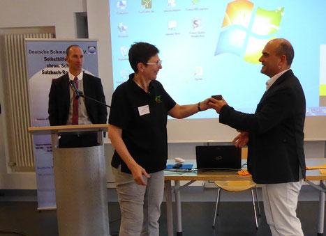 von links: Christoph Scharf - Fachanwalt für Medizinrecht - Weiden, Maria Boßle, Dr.Dr. Markus Schick - Präsident des Landesamtes für Pflege - Amberg