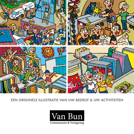 Van Bun Communicatie & Vormgeving - Digitale gepersonaliseerde illustraties voor ondernemingen