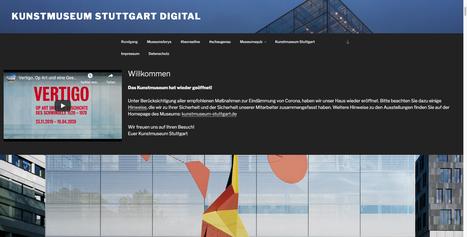 Screenshot Landingpage Online-Angebot Kunstmuseum Stuttgart , https://www.kunstmuseumdigital.de/ (erstellt am 14.07.2020).