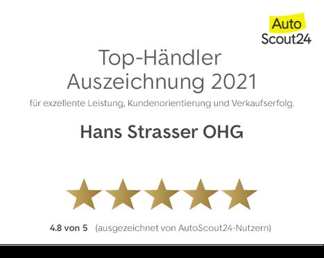 Auszeichnung mit 4,8 Sternen zum Top Händler in Bayern