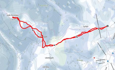 Route von der Postalm auf den Großen Pitscherberg