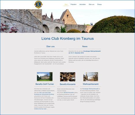 Webseite Lions Club Kronberg