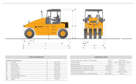 аренда пневмомашинного катка JCB VM 2400