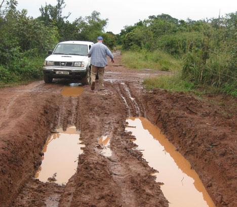 Tratto di strada tra Koboko ed Ingbokolo