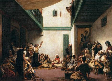 《モロッコのユダヤ風結婚式》1837-1841年