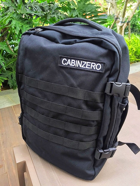 military 28L cabin zero backpack absolute black