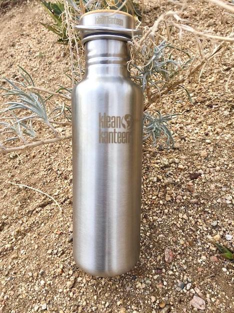 klean kanteen brushed stainless steel water bottle
