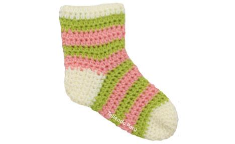 Medias para niños tejidas a crochet / Crochet socks