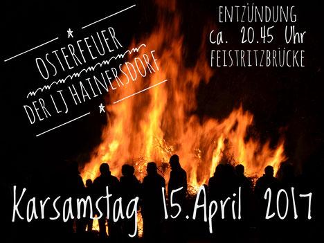 Veranstaltungsankündigung: Lj Hainersdorf Osterfeuer 2017