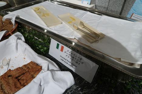 アイルランド産のチーズの盛り合わせ