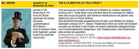 Programme de la SLFF 2015 avec la description de la pièce