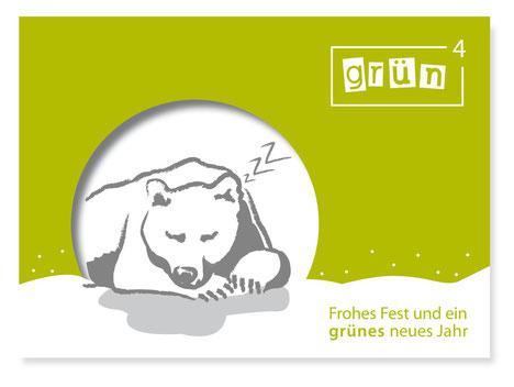 Postkarte grünhoch4