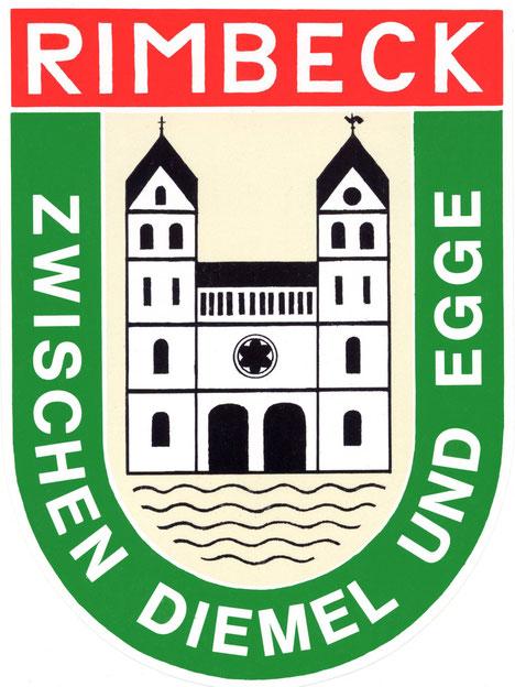 Dieses Logo habe ich 1974  entworfen.....mitlerweile wird es vielfältig,  auch  wie das Wappen von Rimbeck genutzt..... sogar auf den Fahnen des Schützenvereins...