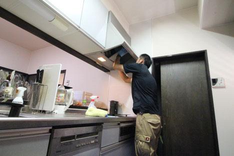 キッチン・台所のクリーニングの様子|お掃除ハウス新潟【阿賀野市】