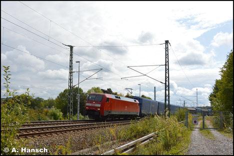 Mehr schlecht als recht kam am 28. September 2019 152 139-2 mit dem GA 52812 nach Braunschweig auf ein Bild. Zu sehen ist der Zug in Chemnitz-Furth