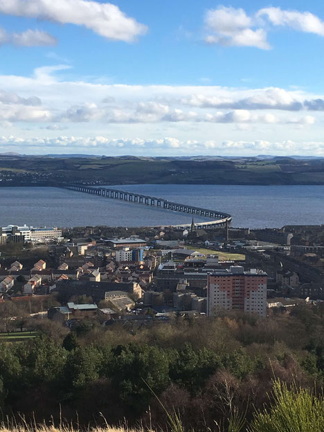 Panoramablick von Dundee Law Viewpoint