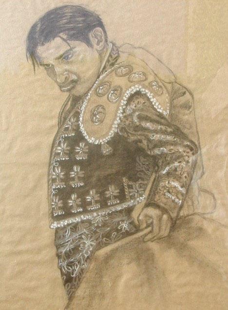 tauromachie-fusain-art-torero