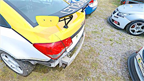 Crash Unfall Accident Action Schrott Schaden Chevrolet Cruze Eurocup Motorsport Real Racing Dennis Bröker