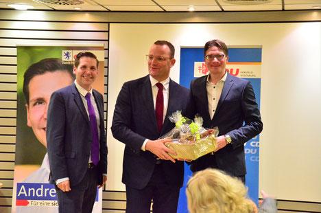 Andreas Rey, Jens Spahn und Timo Lübeck
