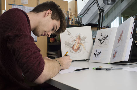 Manuel Ruoss Illustration im OP-Saal