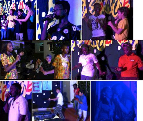 Photos of the main school student performances.