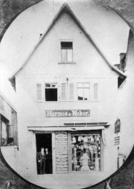 Hermes und Weber in Bad Nauheim,  etwa um 1898, Foto: Sammlung Marie-Luise Matla