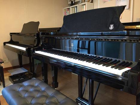 町田市玉川学園青木光ピアノ教室2台のピアノ