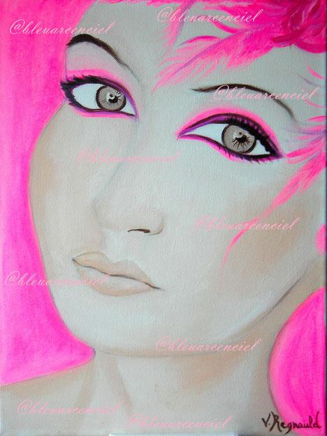 2011 Peinture à l'huile sur toile de lin 25/30 cm d'après photo