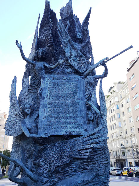 Уличная скульптура Барселоны. Пау Казальс - памятник