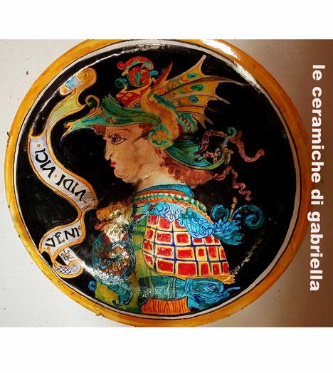 piatto di ceramica Deruta