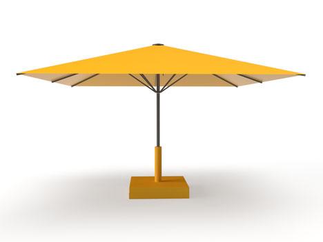 Sonnenschirm für Kindergarten und KiTa may Sonnenschirm SCHATTELLO ✅ großer Schirm mit Standrahmen und Prallschtz am Schirmständer bei FINK Sonnenschirme Großostheim