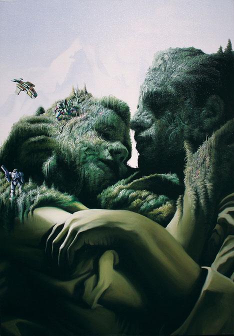 Vasilis Avramidis / Here You Are / oil on canvas / 2011 / 100 x 70 cm