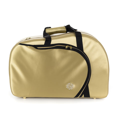 luxury lightweight French horn case golden