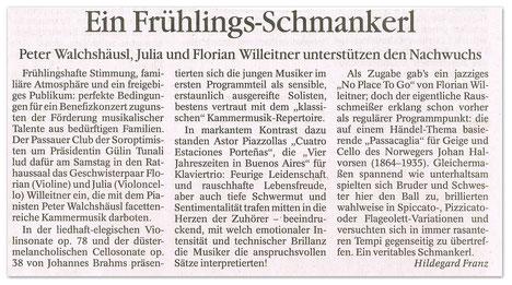 Konzertbericht Passauer Neue Presse