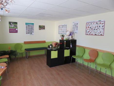 Wartezimmer Tierarztpraxis Thierfelder, Lößnitz