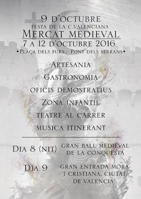 Programa del Mercado Medieval de Valencia