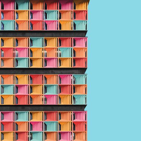 Universidad Eafit centro de idiomas jump arquitectos Medellin colombia colorful architecture