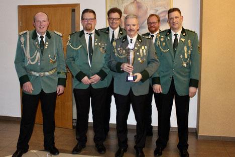 Von links: Franz Hüsers, Jürgen Schulte, Andreas Steinkamp, Dieter Rojer, Andreas Rojer und Günther Brink