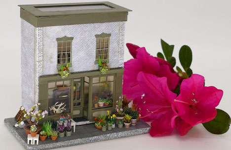 1/144 scale flower shop.  So glad the azaleas are in bloom!